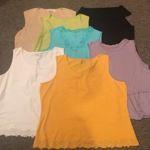 Bundle of sleeveless layering tank tops XL 1X